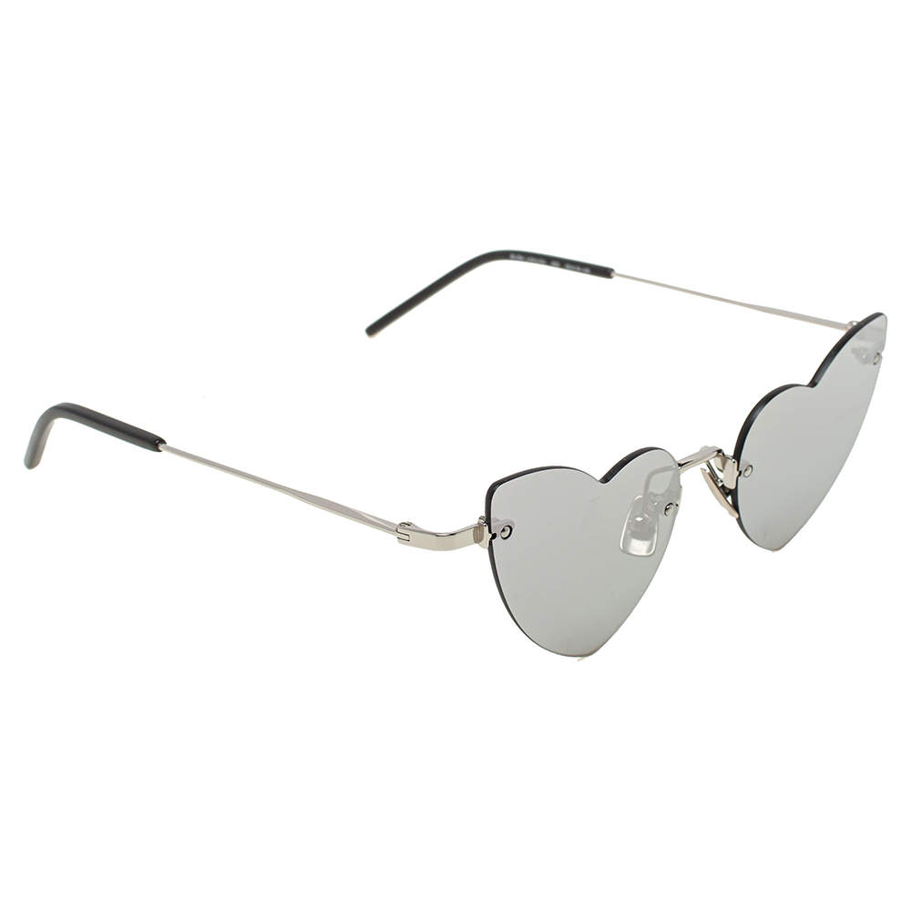 Saint Laurent Paris Silver / Grey SL254 LouLou Rimless Sunglasses