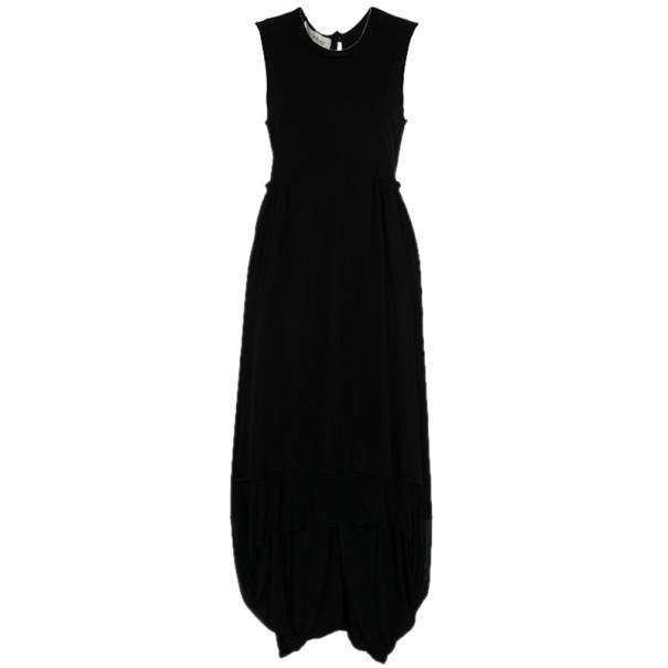 Saint Laurent Paris Black Pleated Evening Dress M