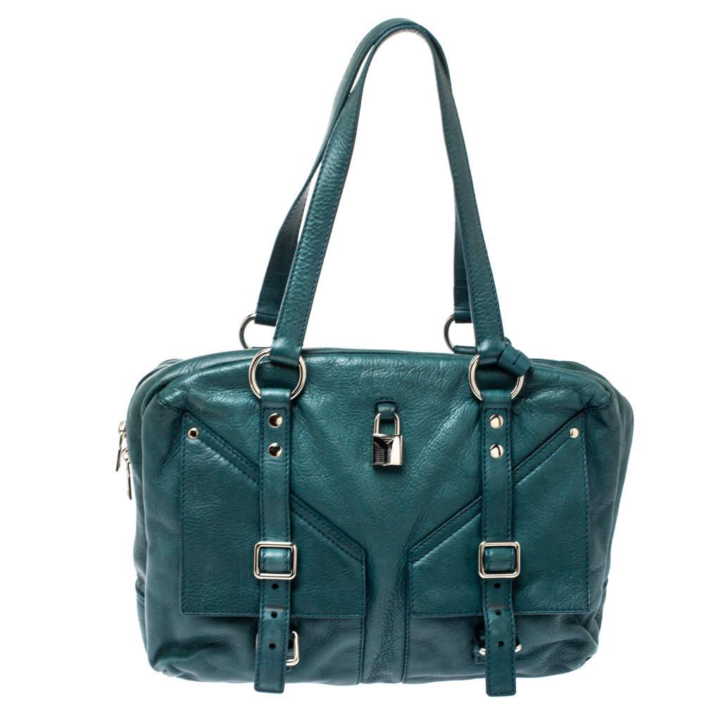 Yves Saint Laurent Dark Green Leather Lover Bag