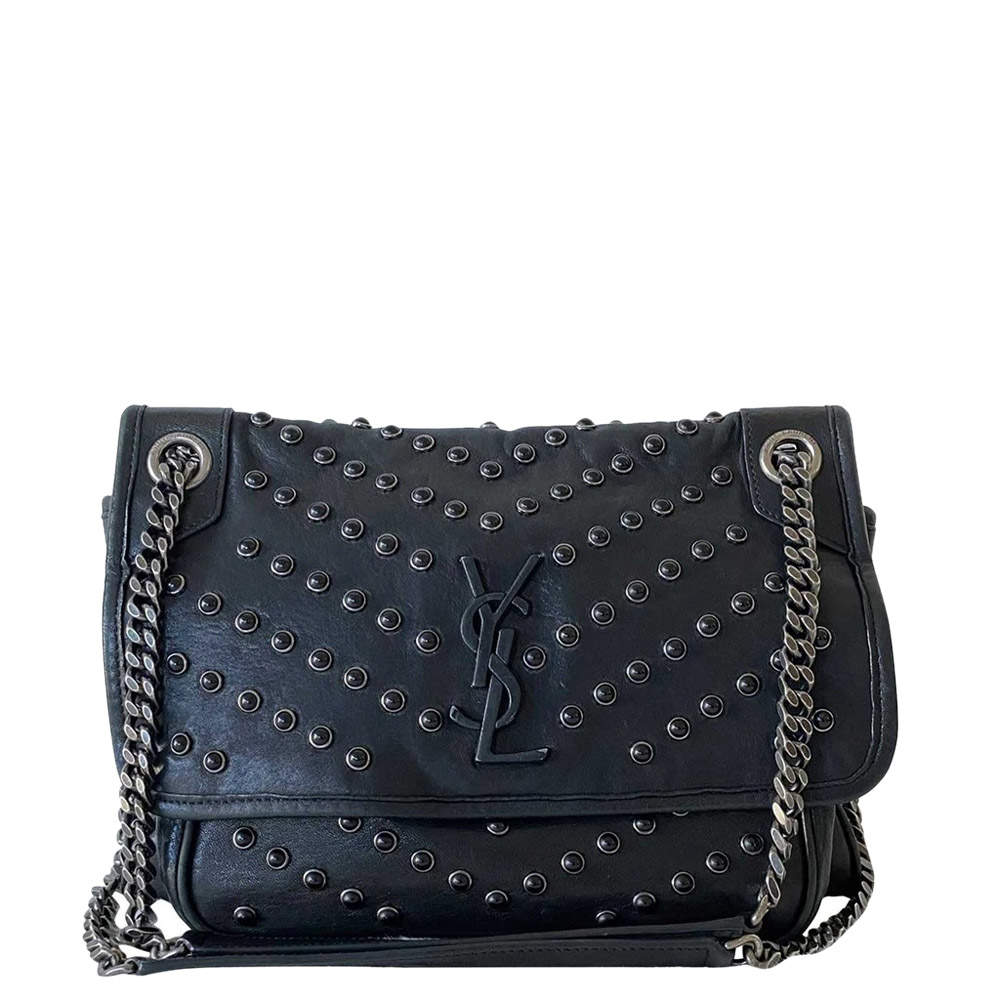 Saint Laurent Black Leather Niki Medium Bag