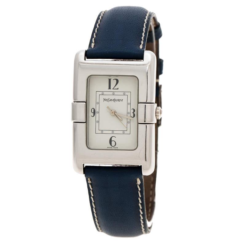 Saint Laurent Paris White Stainless Steel Classic Women's Wristwatch 26 mm
