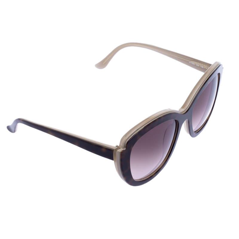 Salvatore Ferragamo Brown Tortoise SF726F Square Sunglasses