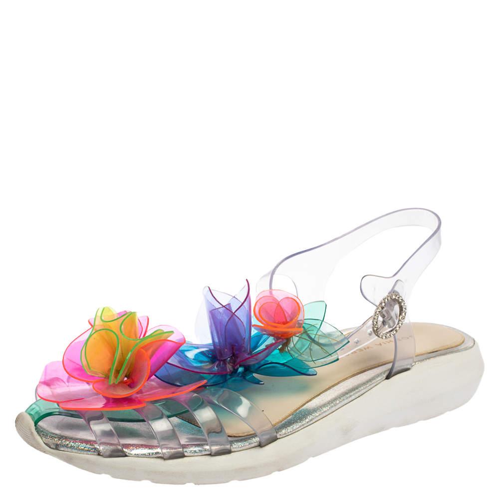 Sophia Webster Multicolor PVC  Jumbo Lilico T Strap Sandals Size 41