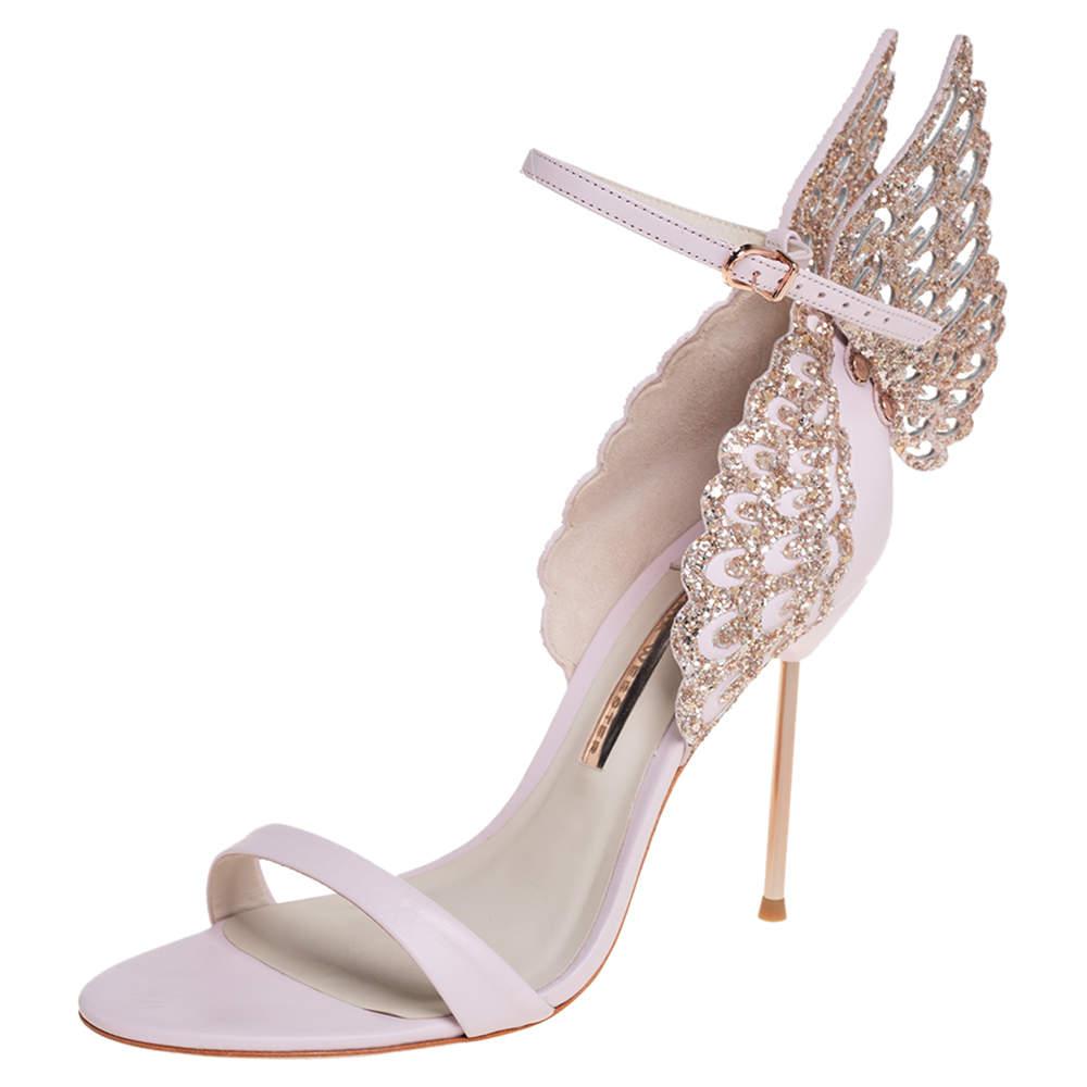 Sophia Webster Pink Leather Evangeline Open Toe Ankle Strap Sandals Size 40
