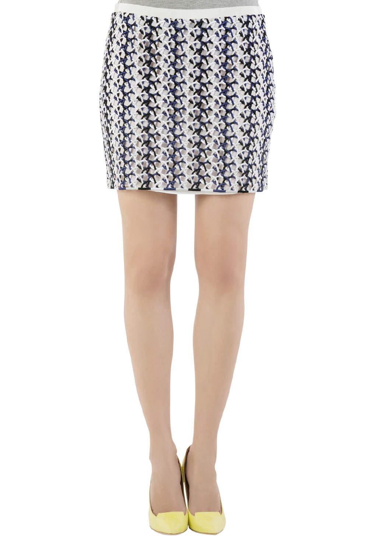 Stella McCartney Multicolor Interloop Cutwork Mini Skirt M