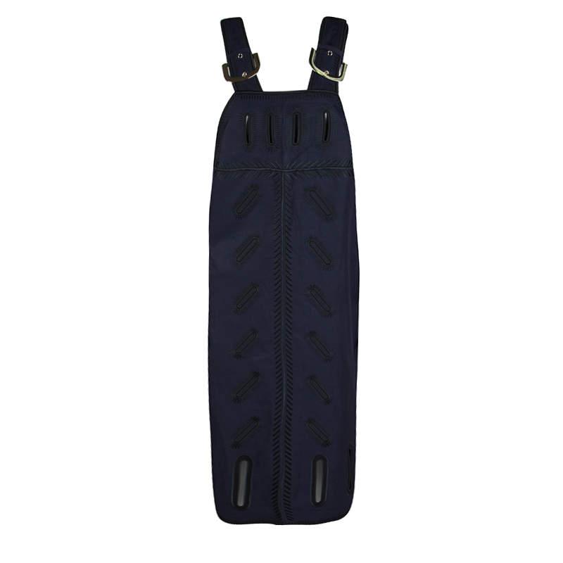 Stella McCartney Navy Blue Cutout Detail Zigarette Embroidered Ashley Drill Dress M