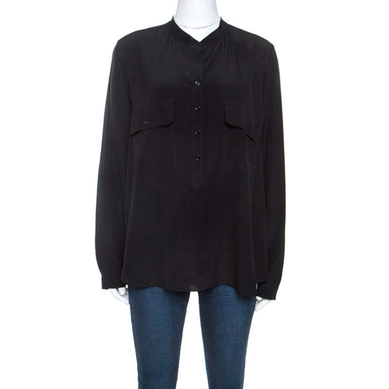 Stella McCartney Black Silk Estelle Shirt M