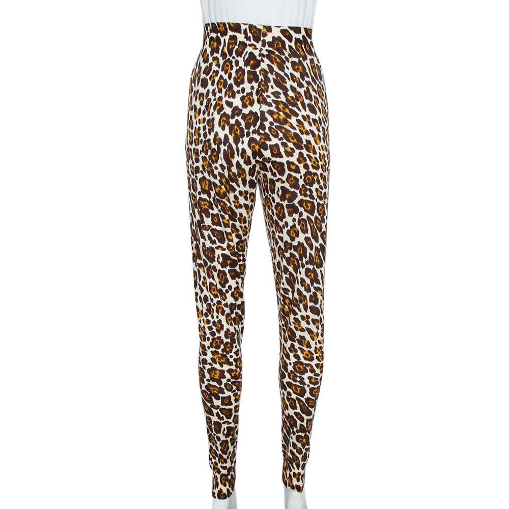 Stella McCartney Brown Animal Print Knit Pants M