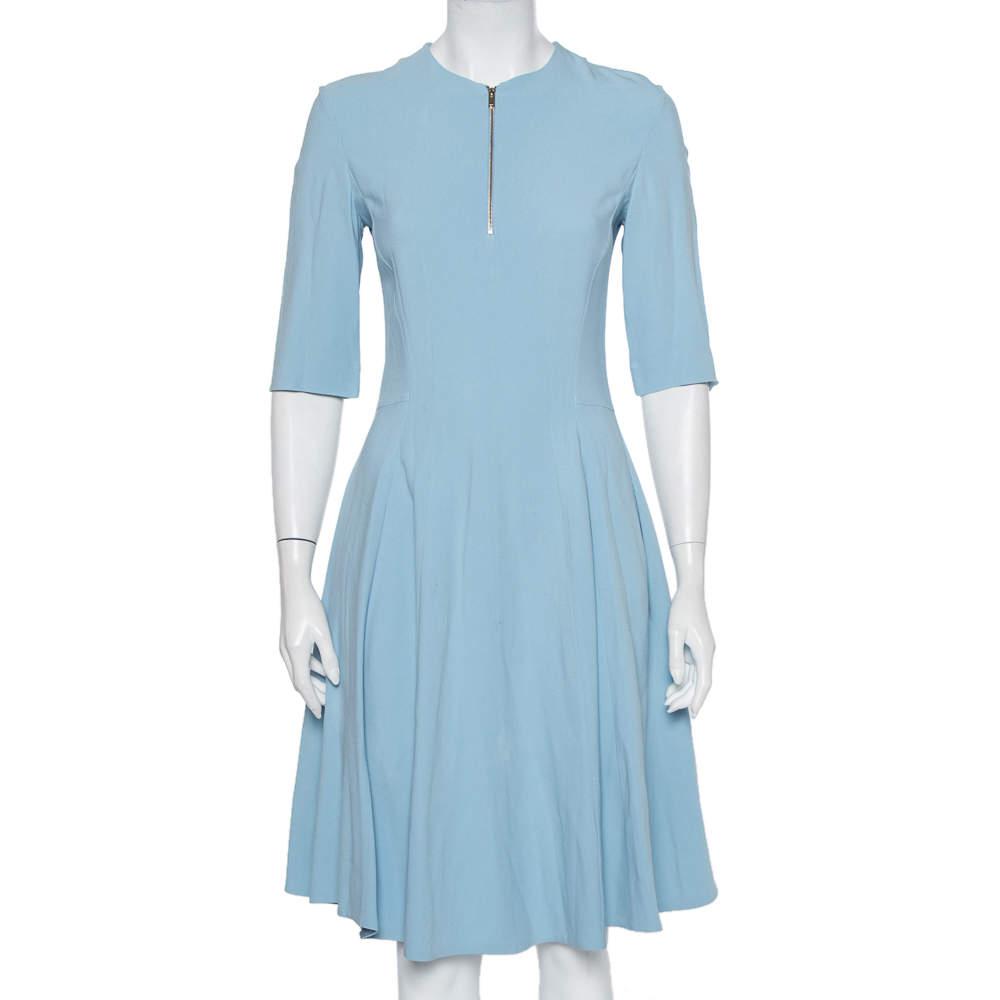 Stella McCartney Powder Blue Crepe Paneled Midi Dress S