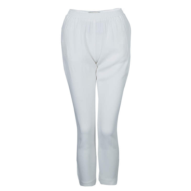 Stella McCartney White Zip Detail Pants S