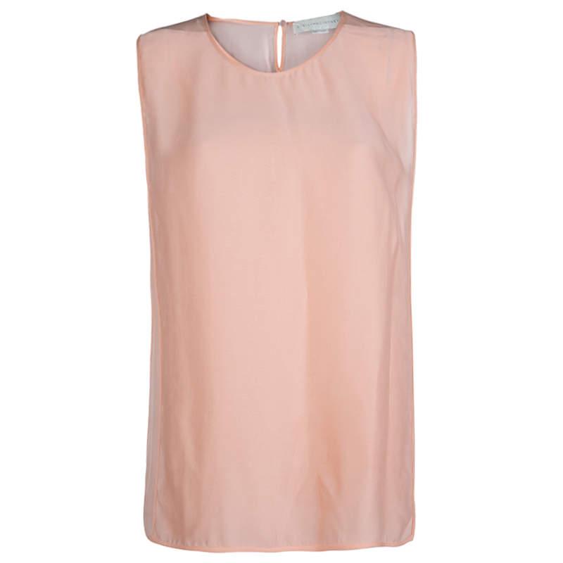 Stella McCartney Light Pink Sleeveless Top M