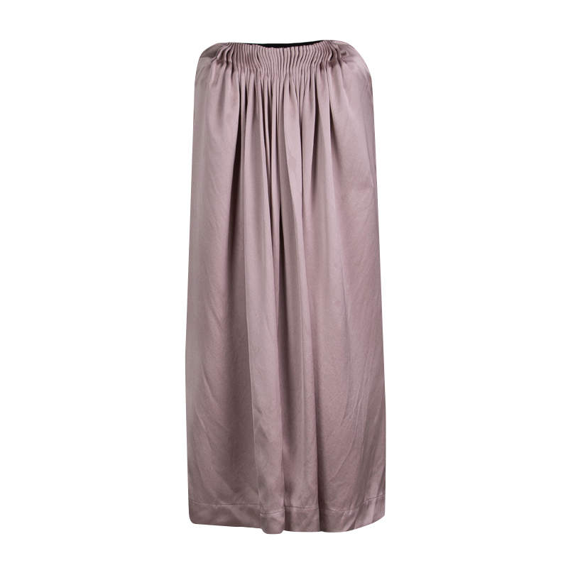 Stella McCartney Pale Pink Silk Pleated Strapless Dress S