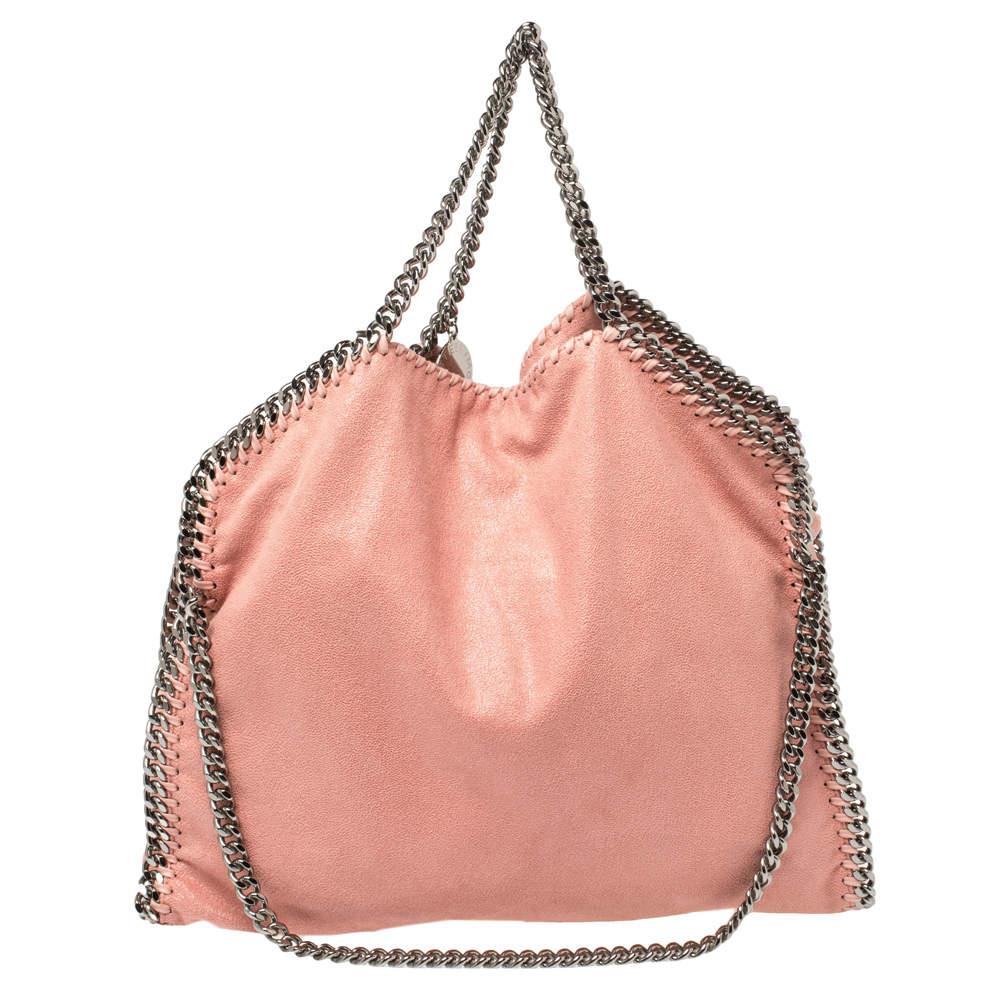 حقيبة يد ستيلا مكاتني فالابيلا صغيرة جلد صناعي وردي فاتح