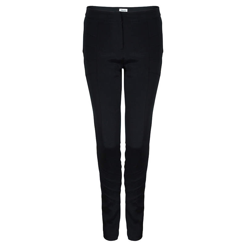 Temperley Black Knit Paneled Trousers S