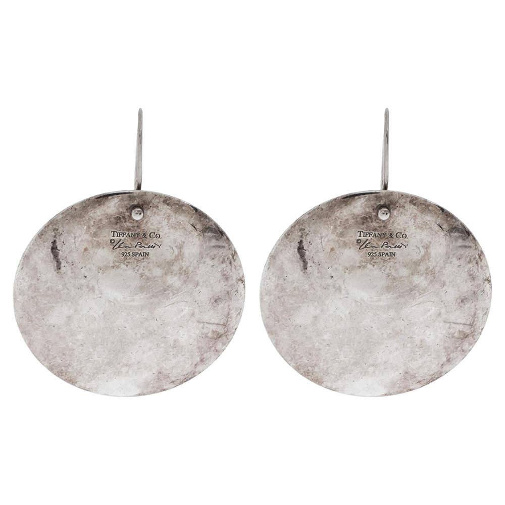 Tiffany & Co. Elsa Peretti Round Drop Silver Earrings