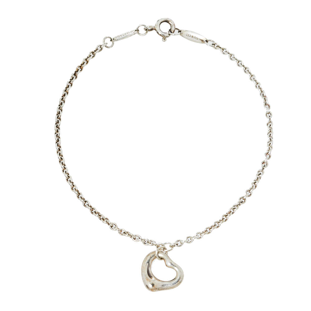 Tiffany & Co. Elsa Peretti Open Heart Sterling Silver Bracelet