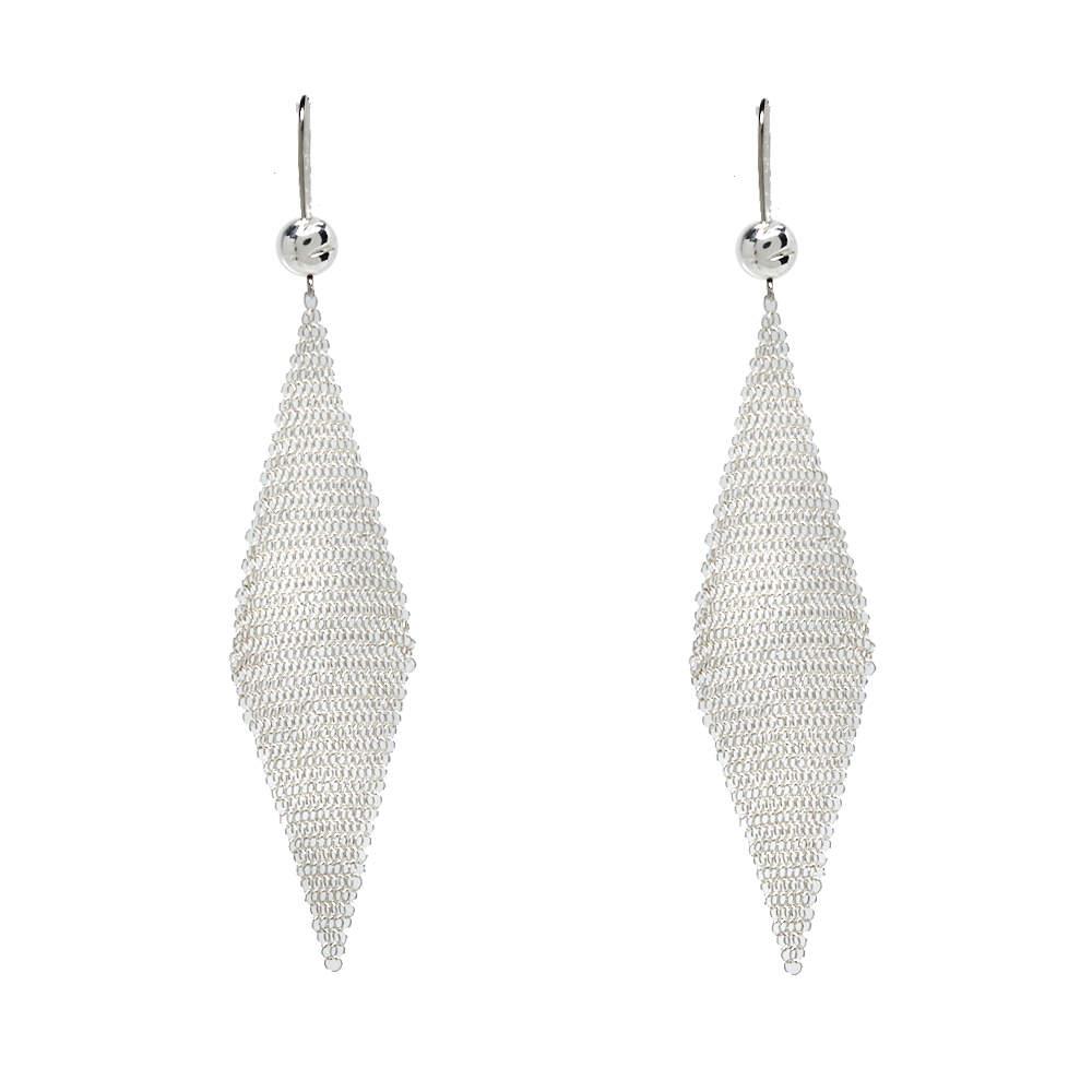 Tiffany &  Co. Sterling Silver Elsa Peretti Mesh Earrings