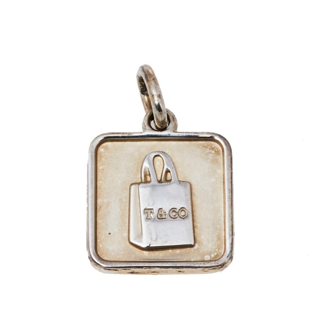 Tiffany & Co. Sterling Silver Lexicon Bag Charm Pendant