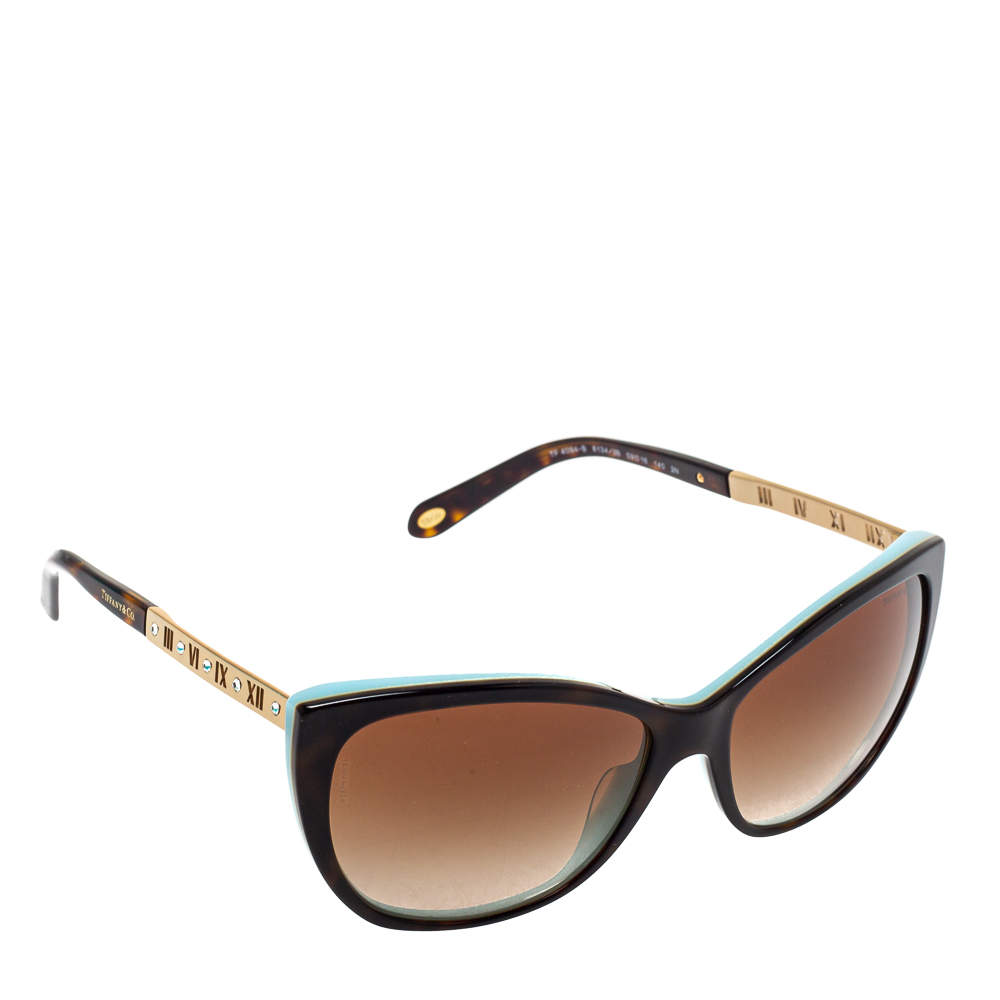 Tiffany & Co. Brown /Brown Gradient TF 4094 - B Atlas Cat Eye Sunglasses