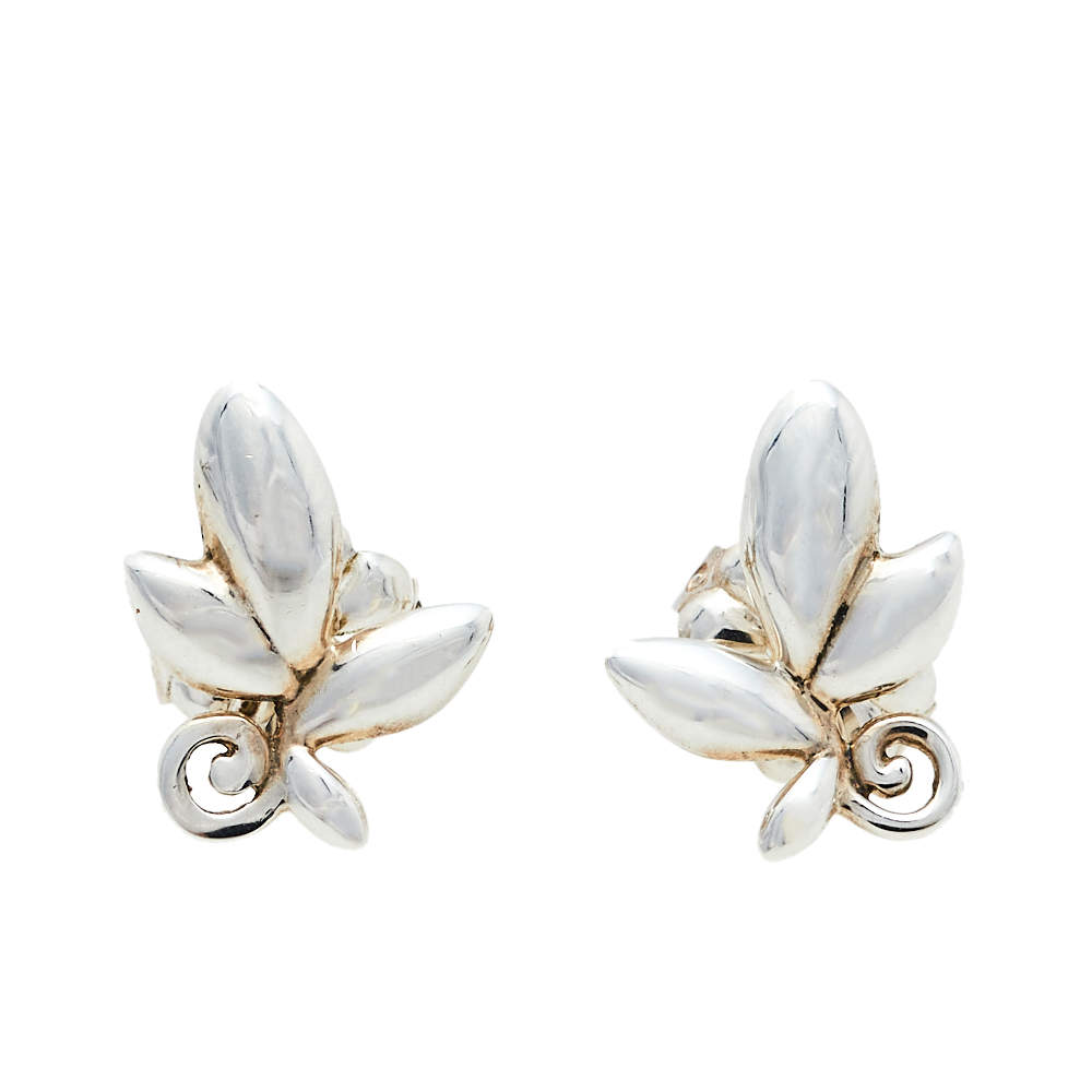 Tiffany & Co. Paloma Picasso® Olive Leaf Silver Stud Earrings