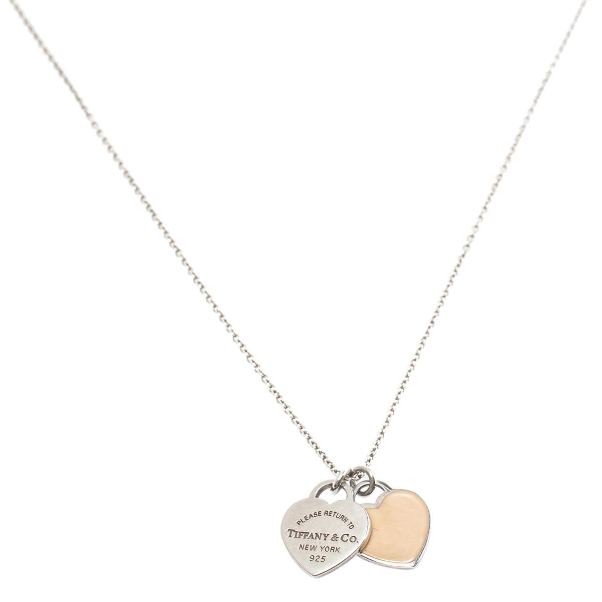 Tiffany & Co. Return To Tiffany Double Heart Tag Pendant Necklace