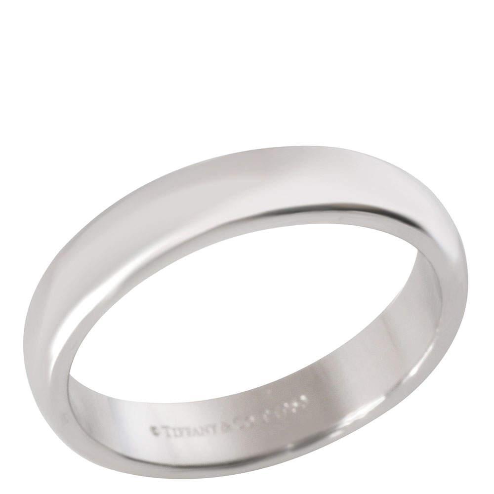 Tiffany & Co. Platinum Classic Wedding Ring Size EU 61