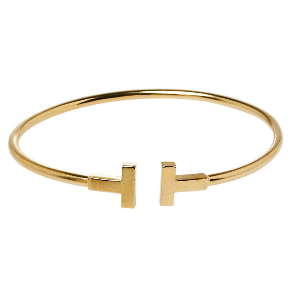 Tiffany & Co. Tiffany T Wire 18K Yellow Gold Bracelet