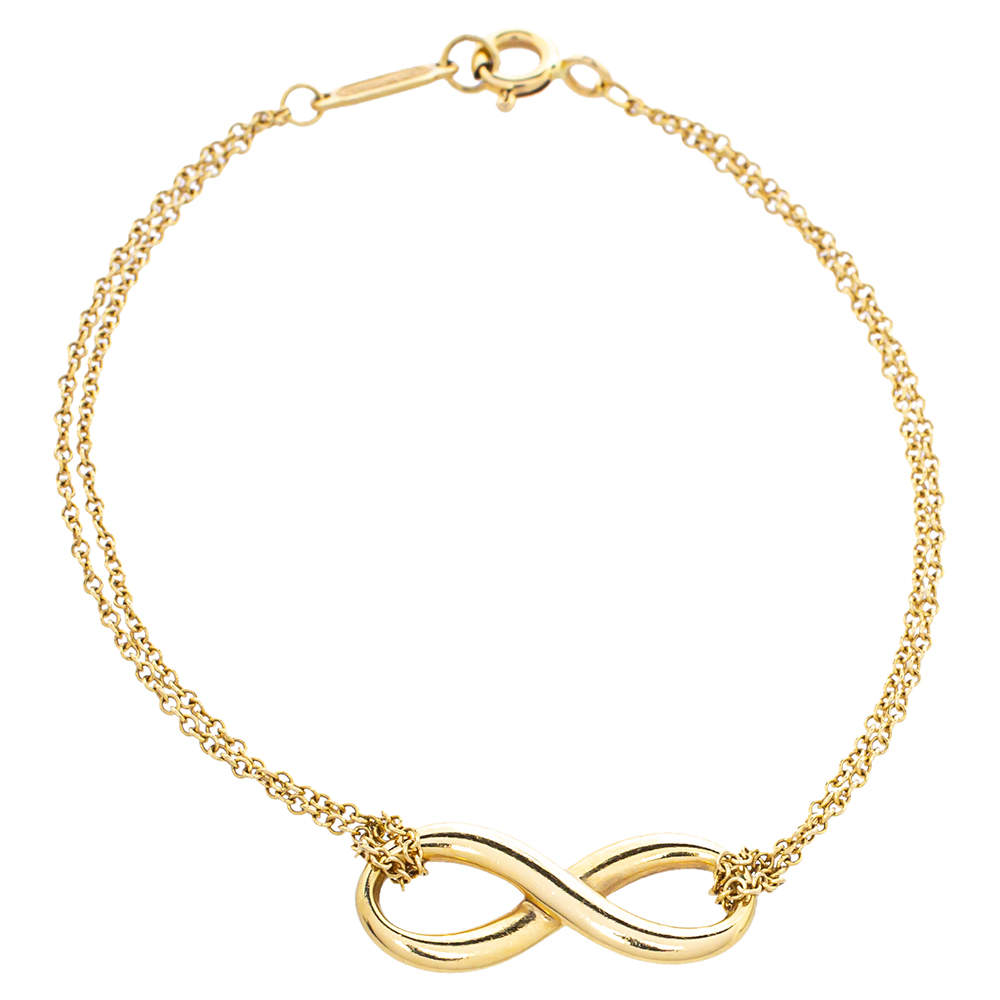 Tiffany & Co. Infinity 18K Yellow Gold Bracelet