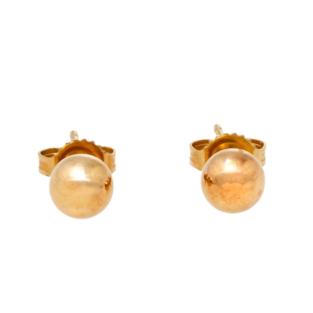 Tiffany & Co. Tiffany HardWear 18K Yellow Gold Mini Ball Stud Earrings