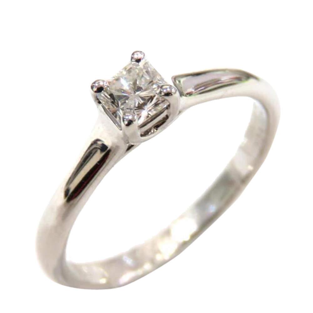 Tiffany & Co. Platinum Princess Cut Diamond Engagement Ring Size 49