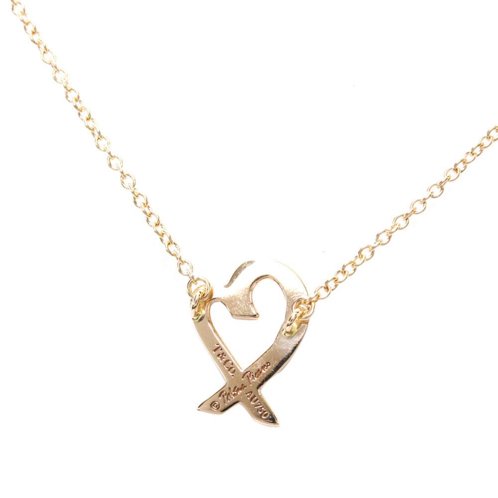 Tiffany & Co. 18K Pink Gold Loving Heart Pendant Necklace