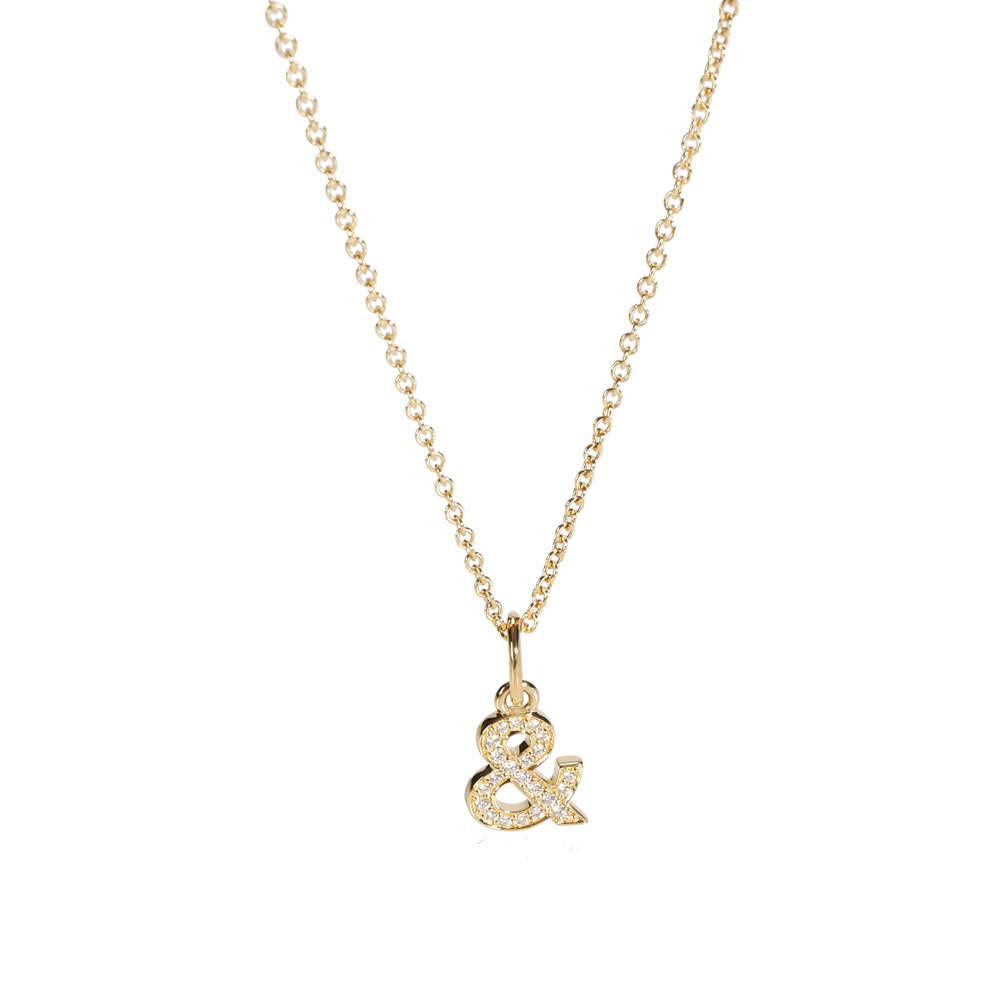Tiffany & Love 18k Yellow Gold Diamonds Ampersand Pendant