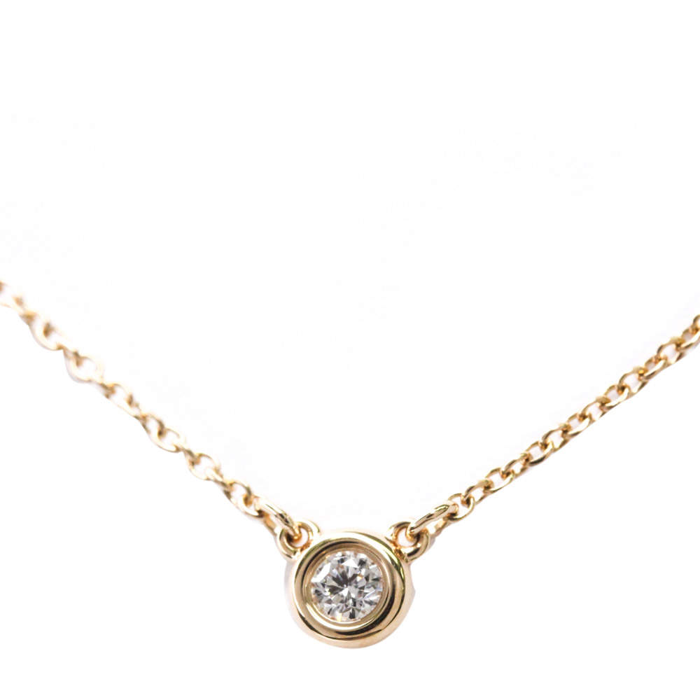 Tiffany & Co. 18K Rose Gold Gold Else Peretti Diamond By The Yard Pendant Necklace