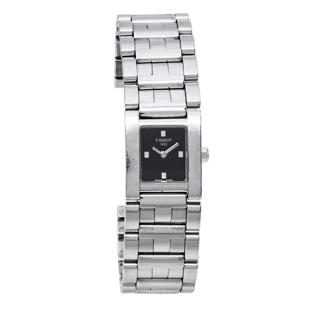 Tissot Black Stainless Steel Classic L804K Women's Wristwatch 21 mm