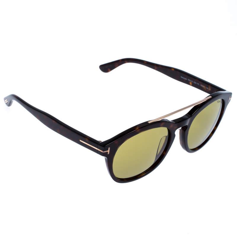 Tom Ford Brown/Green Tortoise Newman Sunglasses