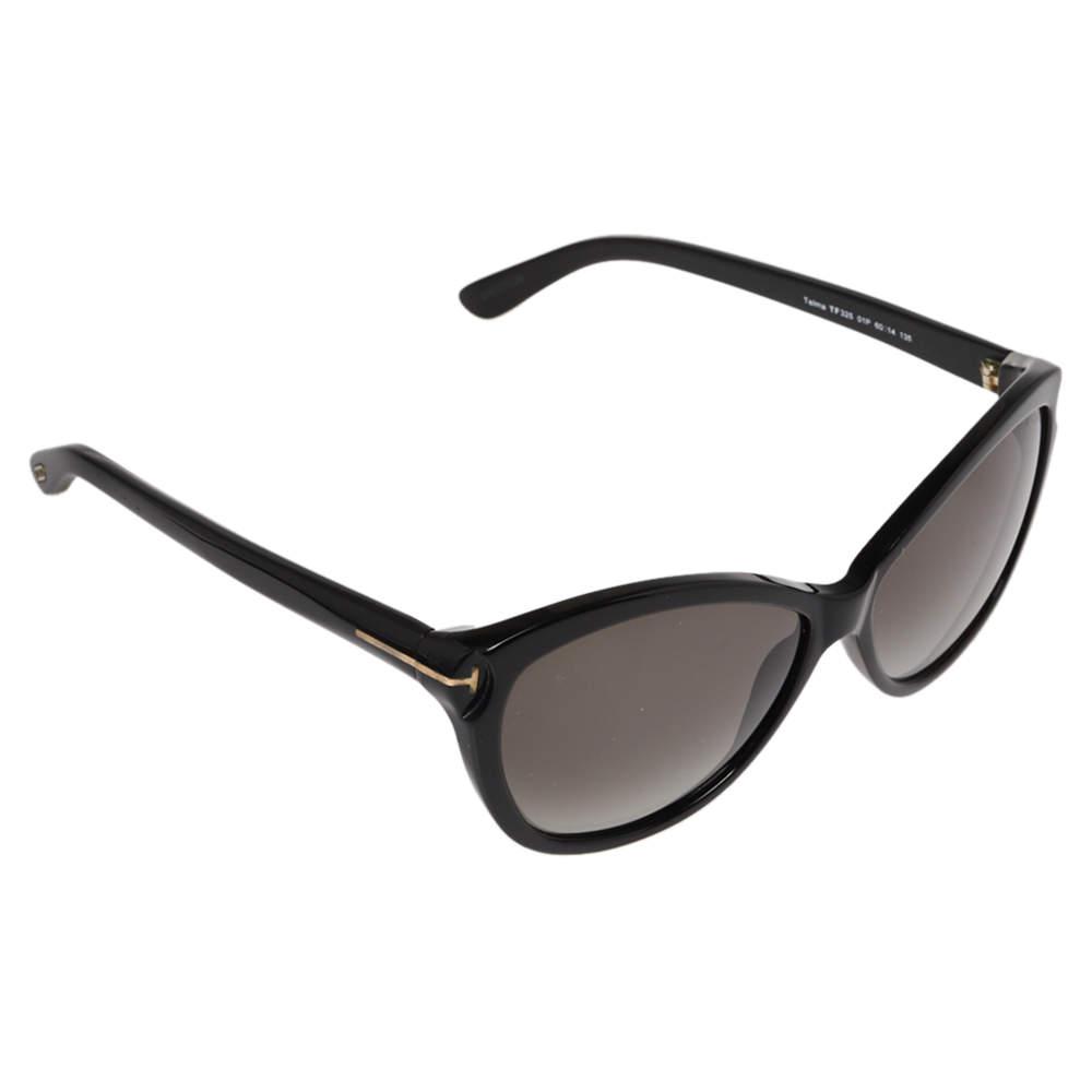 Tom Ford Black/ Grey Gradient TF 325 Cateye Sunglasses