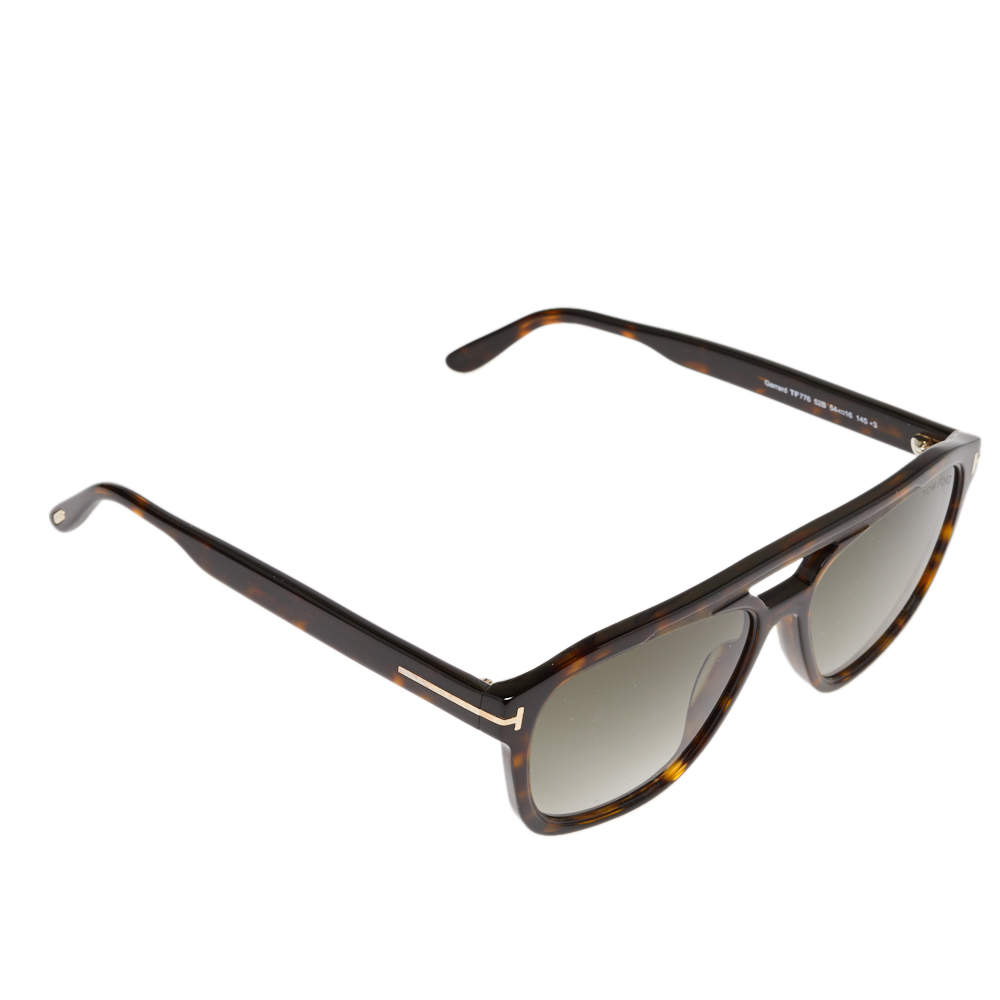 Tom Ford Havana/ Khaki Gradient FT0776 Gerrard Square Sunglasses