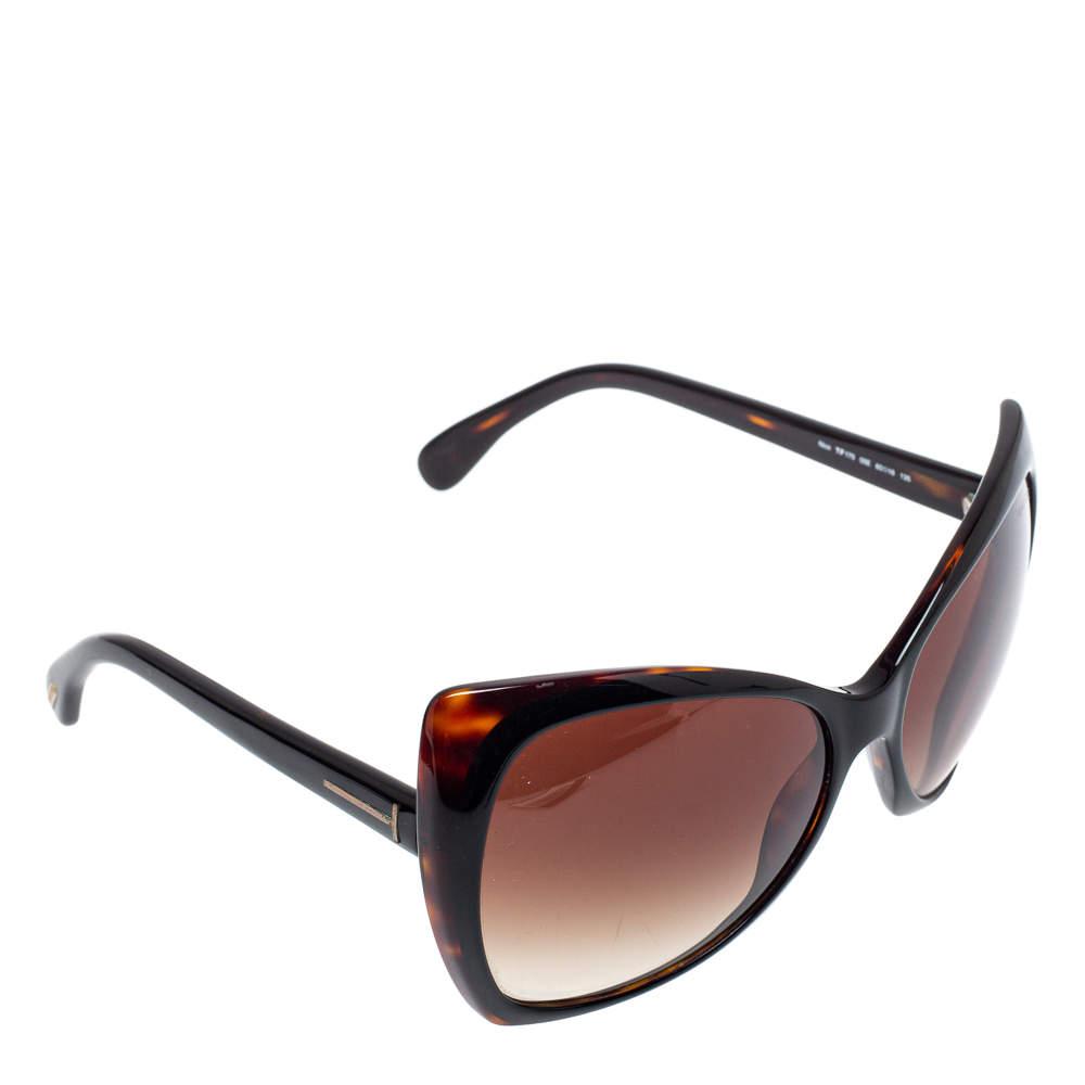 Tom Ford Dark Havana/ Brown Gradient TF175 Nico Oversized Sunglasses