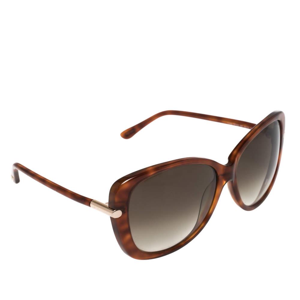 Tom Ford Blonde Havana/ Grey Gradient TF324 Butterfly Sunglasses