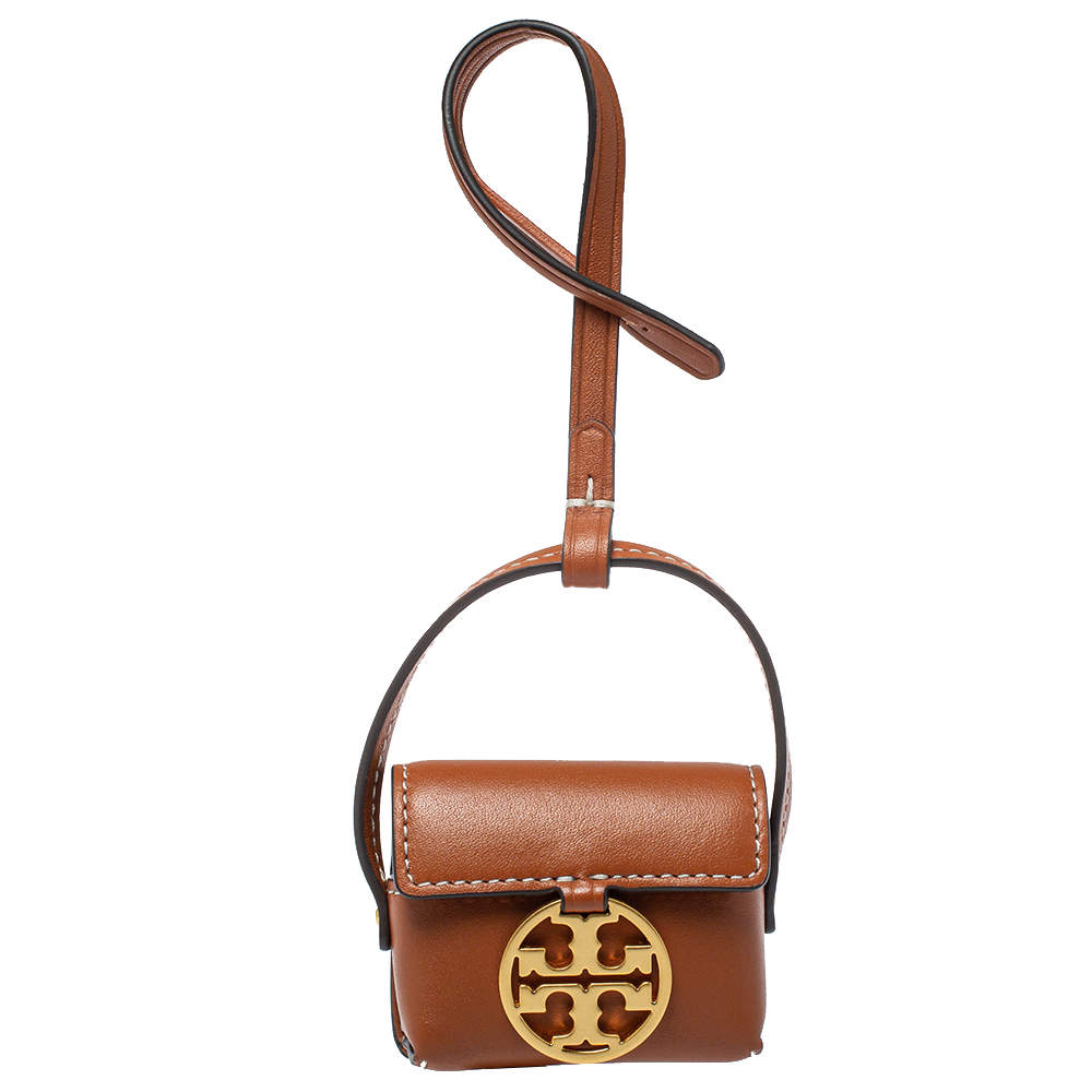 Tory Burch Tan Leather Miller AirPods Pro Case