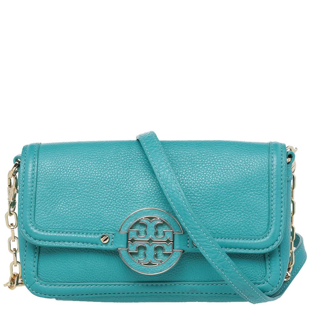 حقيبة كروس توري برش اماندا جلد أزرق