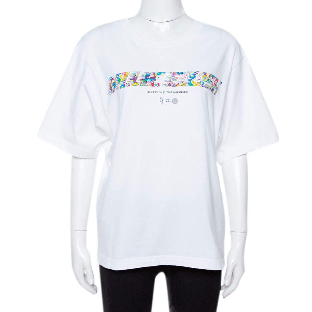 Uniqlo T Murakami X Billie Eilish White Cotton Short Sleeve T-Shirt XS