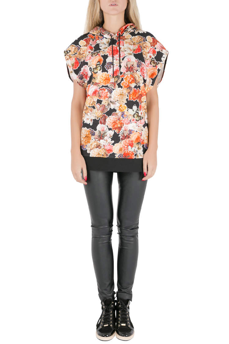 Givenchy Floral and Butterfly Printed Terry Oversized Hoodie XS