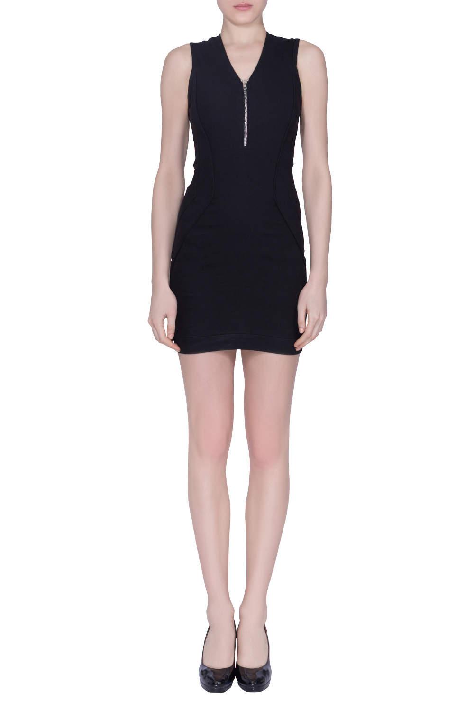 IRO Black Linen Blend Sleeveless Trever Mini Dress S