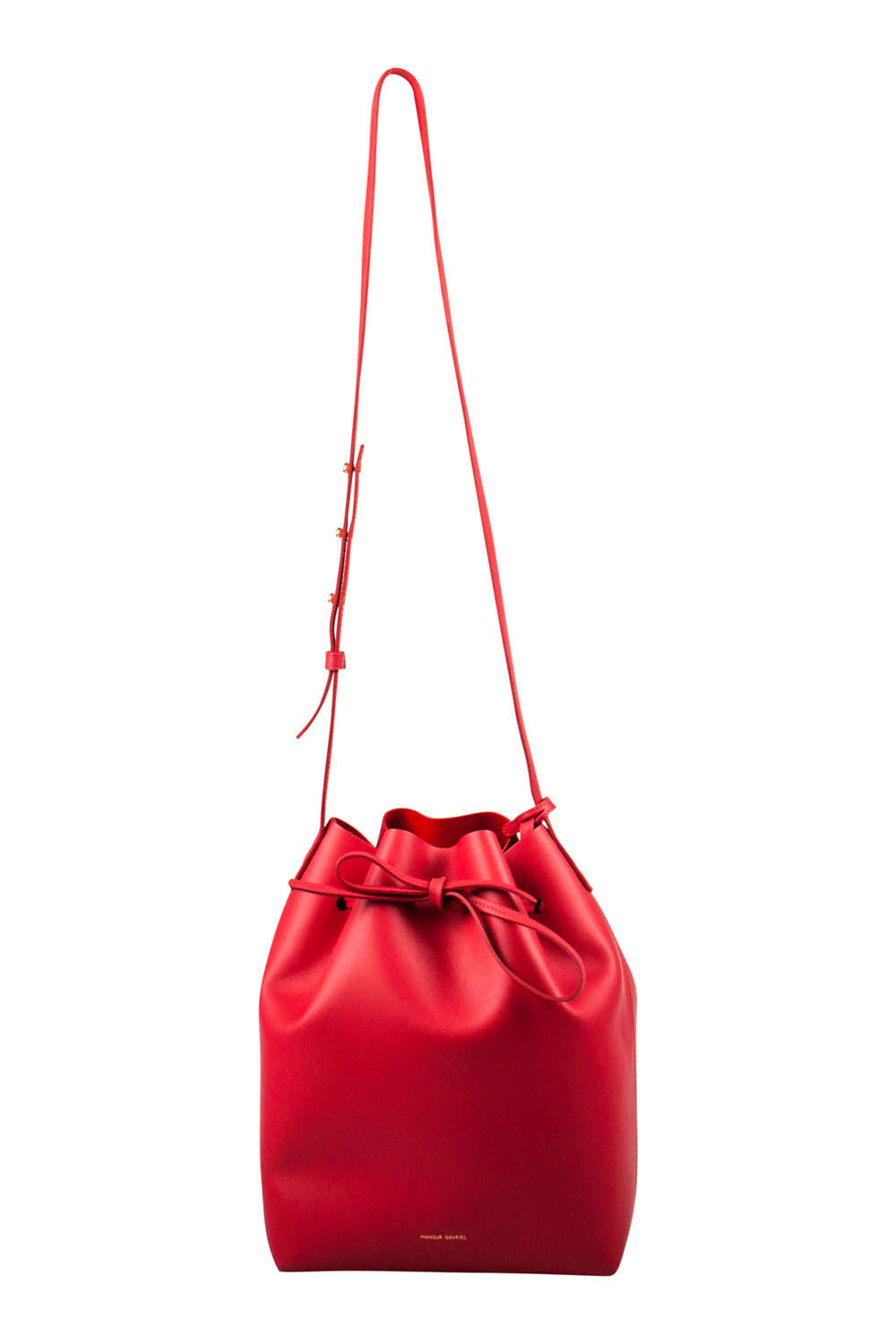 Mansur Gavriel Red Leather Bucket Bag
