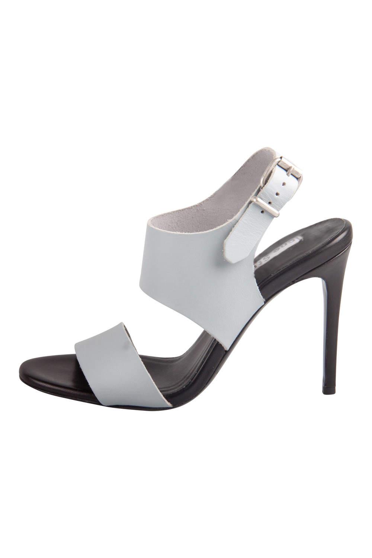 Acne Studios Dusty Blue Leather Tillie Ankle Strap Sandals Size 40