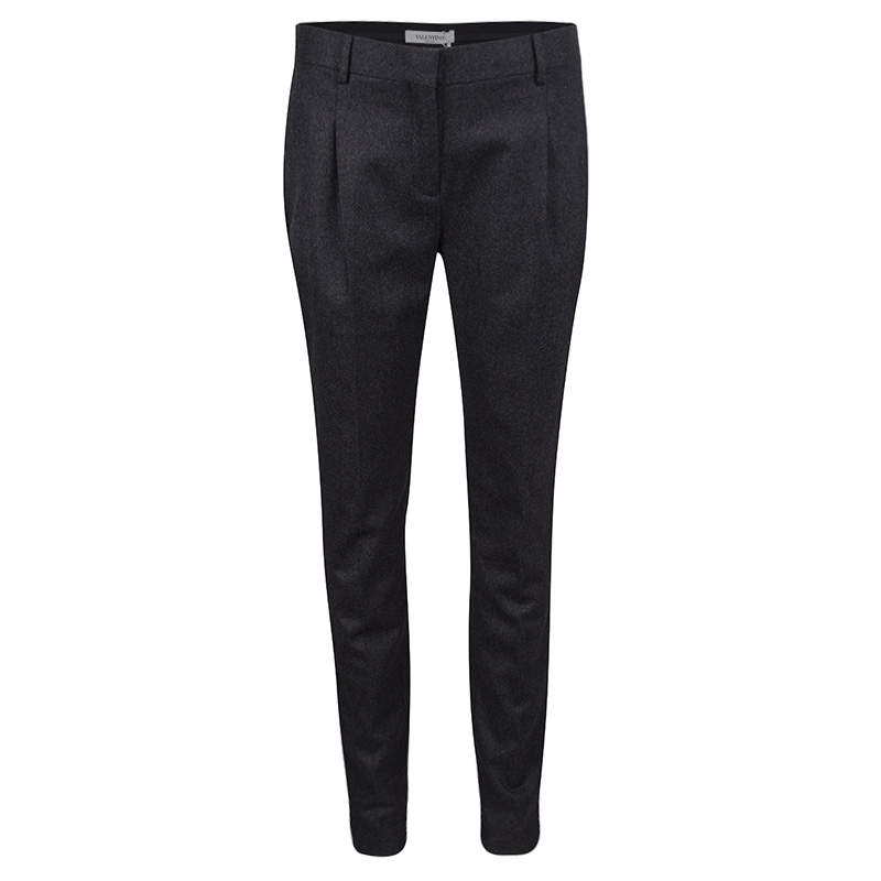 Valentino Grey Wool Tailored Trousers S