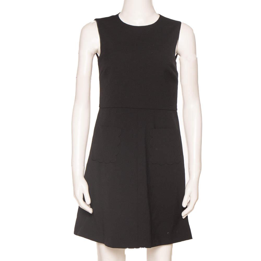 RED Valentino Black Mini Shift Dress XS