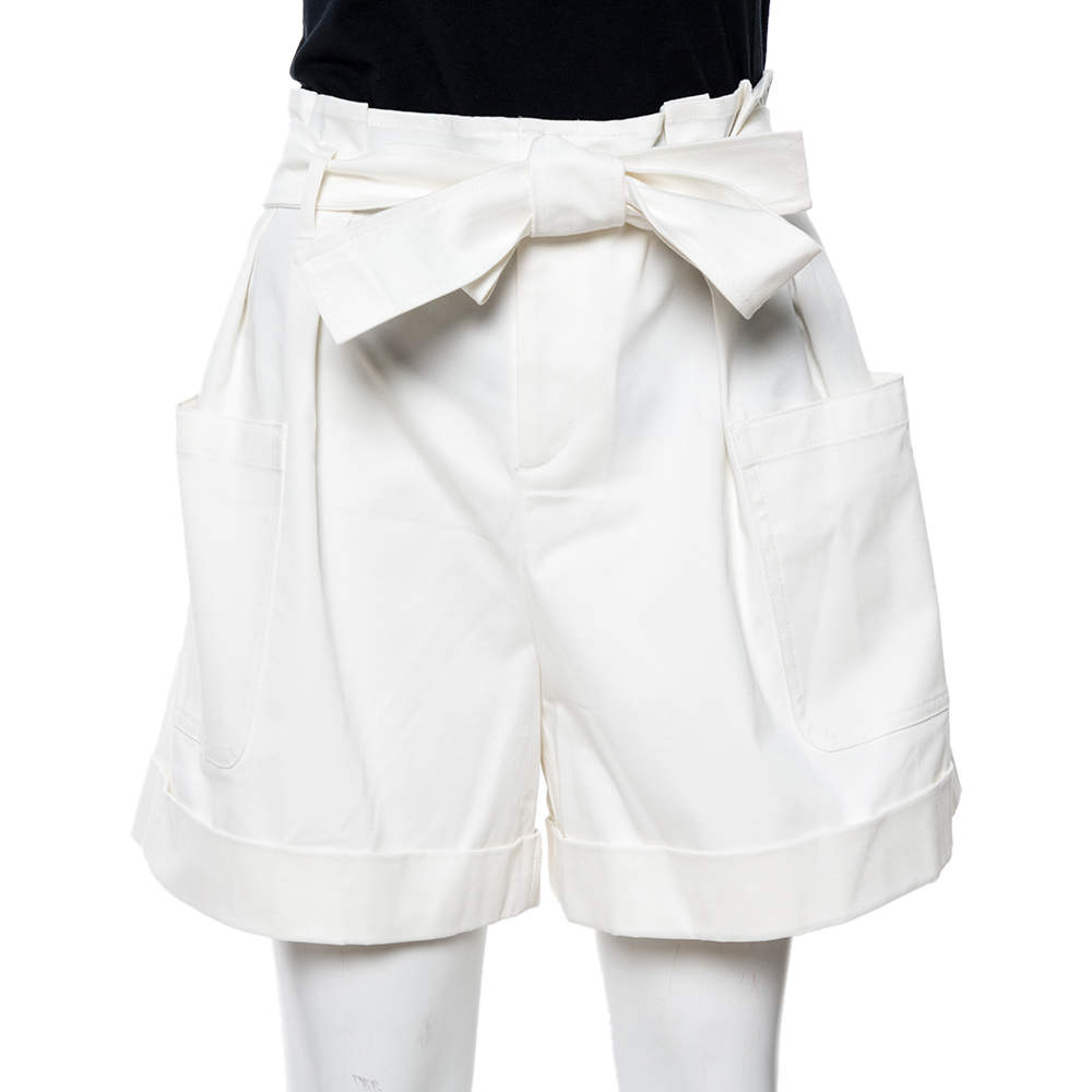 RED Valentino White Gabardine Shorts S