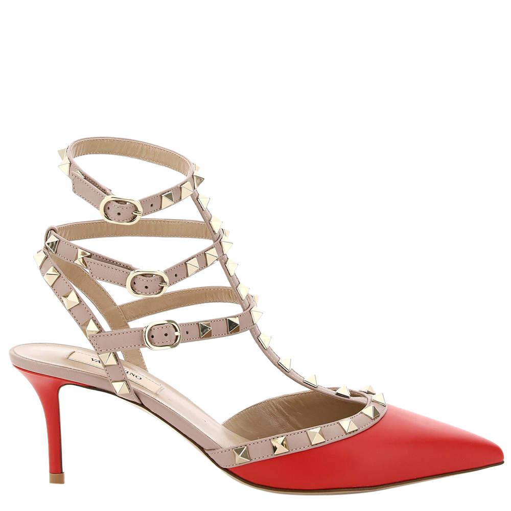حذاء فالنتينو غارافاني روكستد أحمر مقاس EU 35